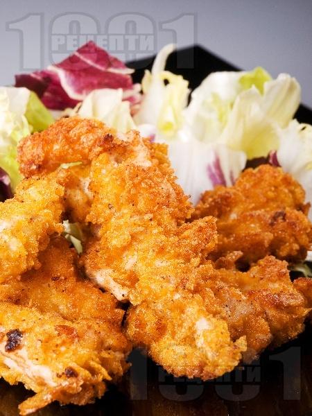 Панирани пилешки флейки в кокос и корнфлейкс с кокосово мляко - снимка на рецептата